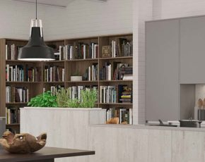 Choose from nine solid colours or one of two wood-grains.