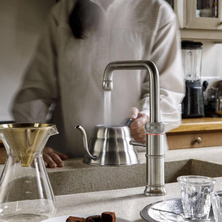 Discover Quooker Classic Fusion Square Boiling Water Tap at Counter Interiors of York