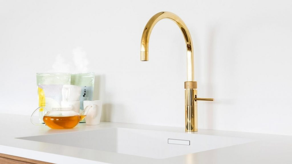 Discover Quooker Fusion Round The Gold One Boiling Water Tap at Counter Interiors of York