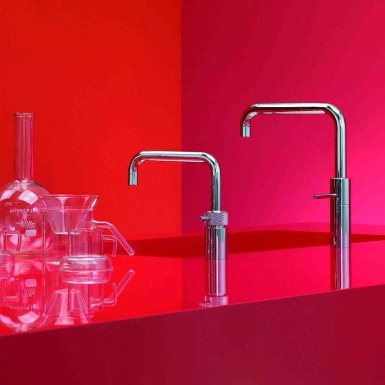 Discover Quooker Nordic Twintaps Square Boiling Water Tap at Counter Interiors of York