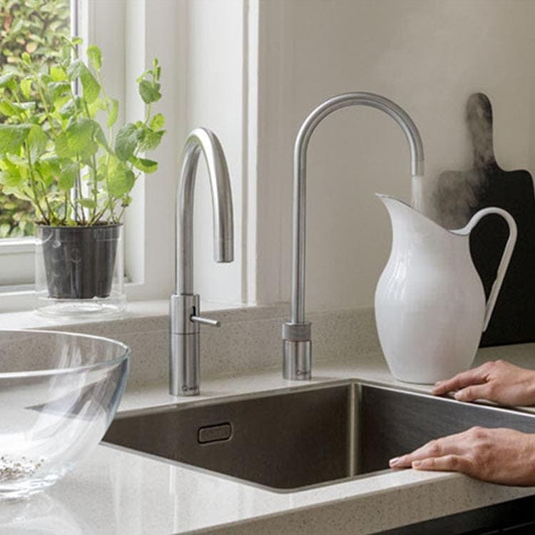 Discover Quooker Nordic Twintaps Round Boiling Water Tap at Counter Interiors of York