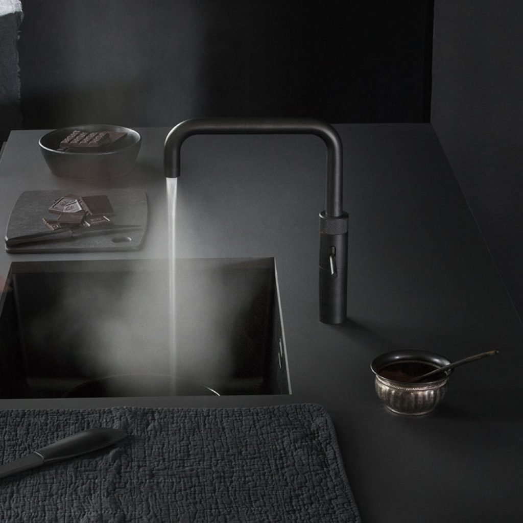 Discover Quooker Fusion Black Boiling Water Tap at Counter Interiors of York