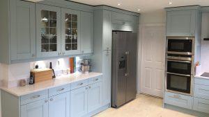 Sherbourne Powder Blue - kitchen installation by Counter Interiors of York