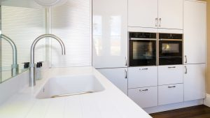 Nevada White high gloss - kitchen installation by Counter Interiors of York