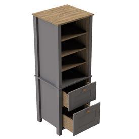 Tall Open Dresser